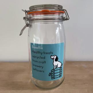 BrewBix Doggy Biscuits Jar with Sticker - x1
