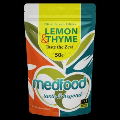 Med Foods Olives with Lemon & Thyme - 12x50g